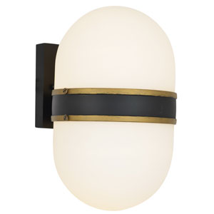 Gordon Black and Beige Four-Light Outdoor Wall Sconce