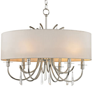 Goswell Polished Nickel Six-Light Chandelier