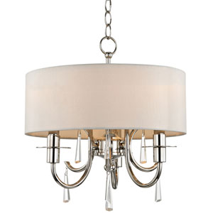Goswell Polished Nickel 14-Inch Three-Light Semi Flush Mount with Clear Hand Cut Crystal