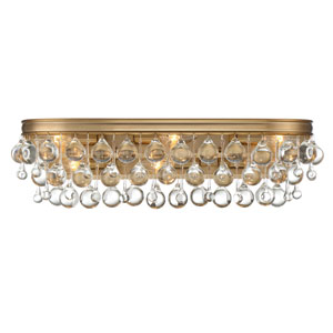 Hopewell Gold Six-Light Bath Vanity