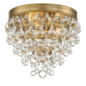 Hopewell Gold 7-Inch Three-Light Flush Mount