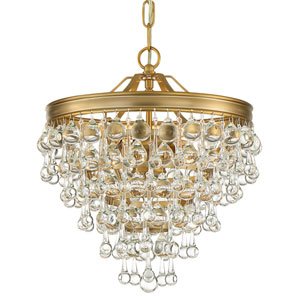 Hopewell Gold Three-Light Chandelier
