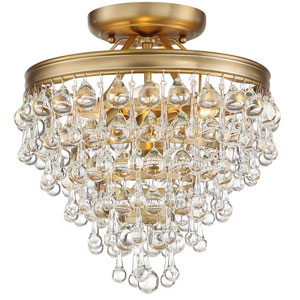 Hopewell Gold 8-Inch Three-Light Flush Mount