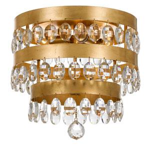 Kensington Antique Gold Four-Light Flush Mount