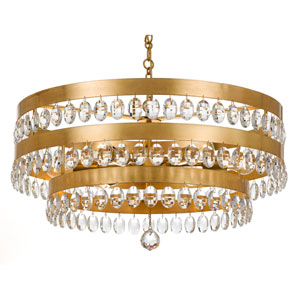 Kensington Antique Gold Six-Light Chandelier