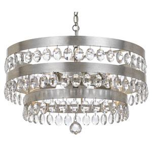 Kensington Antique Silver Five-Light Chandelier