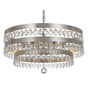 Kensington Antique Silver Six-Light Chandelier