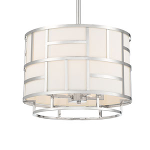 Kenzie Polished Nickel Four-Light Chandelier