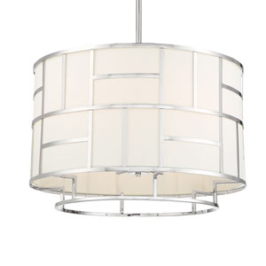 Kenzie Polished Nickel Six-Light Chandelier