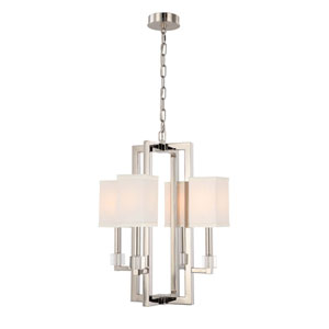 Langdon Polished Nickel Four-Light Chandelier