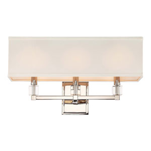 Langdon Polished Nickel Three-Light Wall Sconce