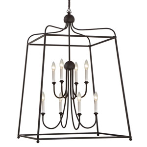 London Bronze 27.5-Inch Eight-Light Chandelier