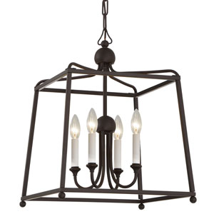 London Bronze 16-Inch Four-Light Chandelier