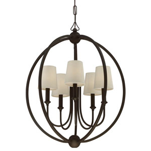 London Bronze 22.5-Inch Five-Light Chandelier