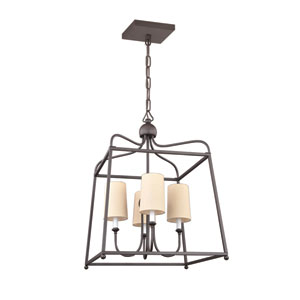 London Bronze 21.5-Inch Four-Light Chandelier