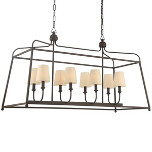 London Bronze Eight-Light Island Pendant
