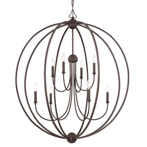 London Bronze 24-Inch Eight-Light Chandelier