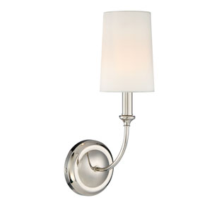 London Polished Nickel One-Light Wall Sconce