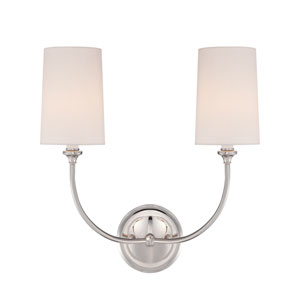 London Polished Nickel Two-Light Wall Sconce