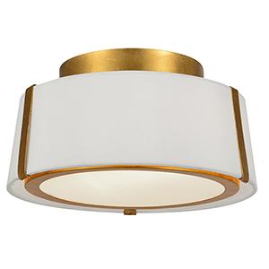 Manning Antique Gold Two-Light Semi Flush Mount