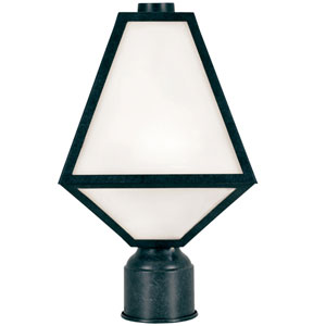 Randolph Black One-Light Outdoor Post Lantern