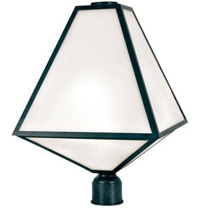 Randolph Matte Black Three-Light Outdoor Post Lantern