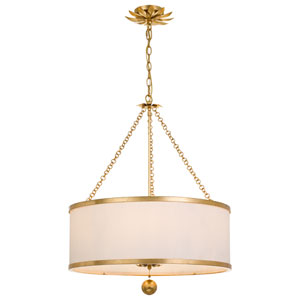 Rosemary Gold Six-Light Pendant