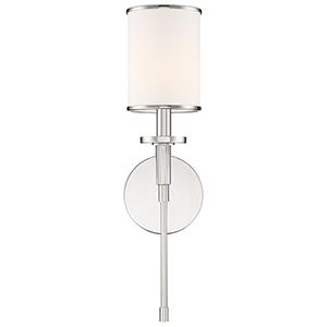 Stafford Polished Nickel One-Light Wall Sconce