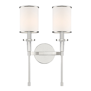 Stafford Polished Nickel Two-Light Wall Sconce
