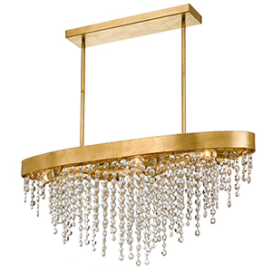 Wharf Antique Gold Eight-Light Chandelier
