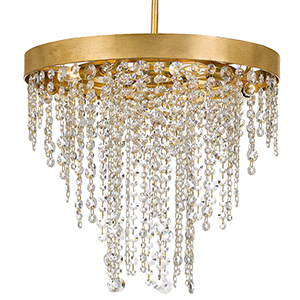 Wharf Antique Gold Five-Light Chandelier
