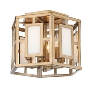 Wren Gold Six-Light Semi Flush Mount