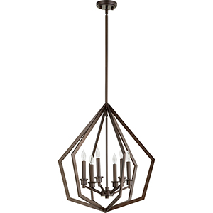 Acorn Oiled Bronze Six-Light Pendant
