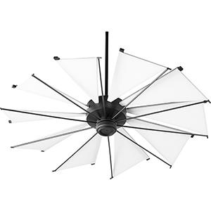 Alberta Black 52-Inch  Ceiling Fan