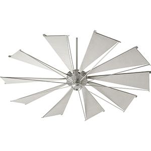 Alberta Satin Nickel 72-Inch  Ceiling Fan