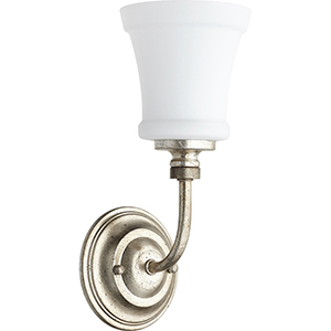 Atherton Aged Silver Leaf One-Light Wall Sconce