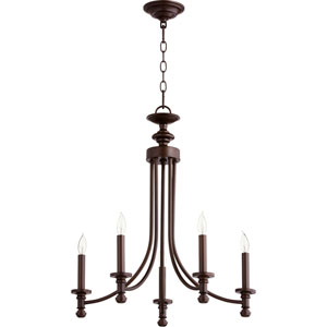 Atherton Oiled Bronze 22-Inch Five-Light Chandelier