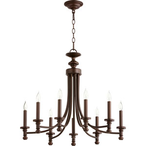 Atherton Oiled Bronze 27-Inch Nine-Light Chandelier