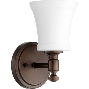 Atherton Oiled Bronze with Satin Opal One-Light Wall Sconce