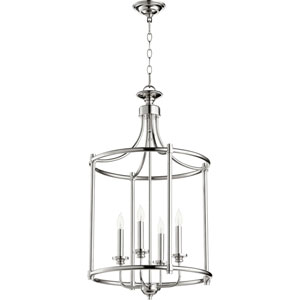 Atherton Polished Nickel 18-Inch Four-Light Pendant