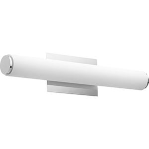 Avante Polished Nickel and Matte White Acrylic 24-Inch Two-Light LED Bath Bar