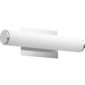 Avante Polished Nickel and Matte White Acrylic LED Bath Bar
