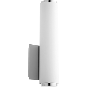 Avante Polished Nickel and Matte White Acrylic LED Wall Sconce