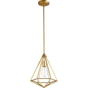 Bedford Aged Brass One-Light Pendant