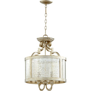 Bloomfield Aged Silver Leaf 16-Inch Four-Light Pendant