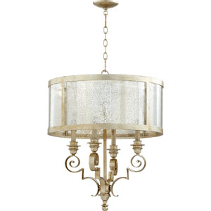 Bloomfield Aged Silver Leaf 23-Inch Four-Light Pendant