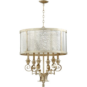 Bloomfield Aged Silver Leaf 24-Inch Six-Light Pendant