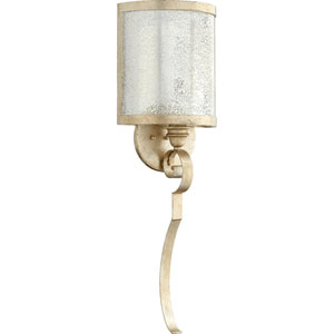 Bloomfield Aged Silver Leaf One-Light Wall Sconce