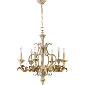 Bloomfield White Six-Light Chandelier