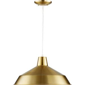 Boardwalk Aged Brass One-Light Pendant